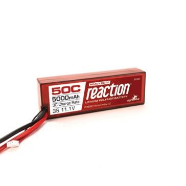 Reaction 11.1V 5000mAh 3S 50C LiPo, Hardcase: EC5