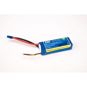 2200mAh 3S 11.1V 50C LiPo. 13AWG EC3