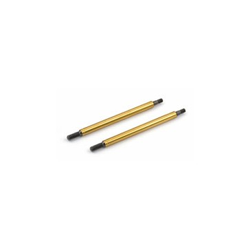 RC8 GOLD FRONT SHOCK SHAFT 29MM (2)