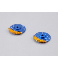 Caliper Brake Disc CNC Alloy Blue/Gold (2pcs.) (for 1/10)