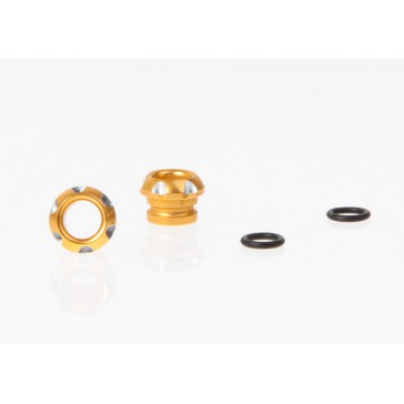 DISC.. LED Holder CNC Alloy for 5mm Light, Golden