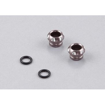 DISC.. LED Holder CNC Alloy for 5mm Light, Grey