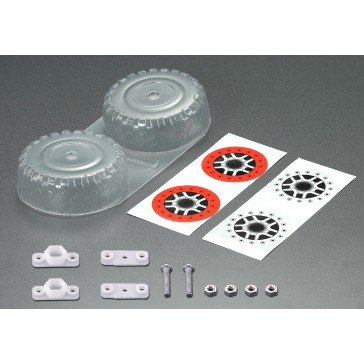 Spare Tire set, Clear lexan (for 1/10 SCT)