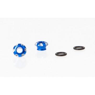 DISC.. LED Holder CNC Alloy for 3mm Light, Blue