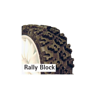 RALLY BLOCK TYRE SET (4) W/FOAM INSERTS