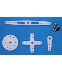 DISC.. Servo spare parts : Micro Horn Set&Screws for ES08A/ES08D