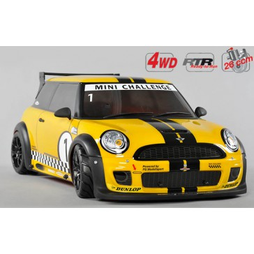Sportsline 4WD-510 Mini Cooper, 4WD, RTR, yellow painted