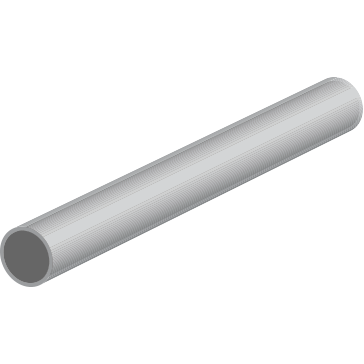 Tube ALUMINIUM 1000 x  3 mm