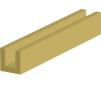 Profilé ''U'' 1000 x 3   x 1.5 mm