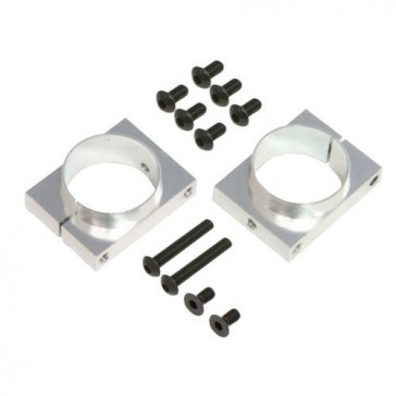 DISC.. NX4 CNC Boom Clamps (Silver anodized)