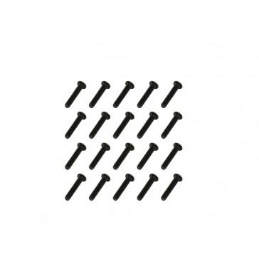 DISC.. Machine Screws-Black(M1.4x7)x20pcs