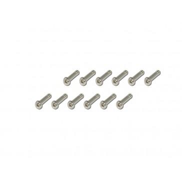 DISC.. Machine  Screws-Silver-Semi-(2x8)x12pcs