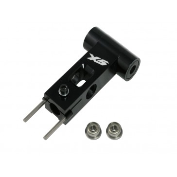 DISC.. X5 CNC Main Rotor Yoke Set (Black anodized)
