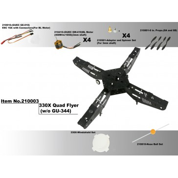 DISC.. 330X-Scorpion Quad Flyer kit (Motors & ESC)
