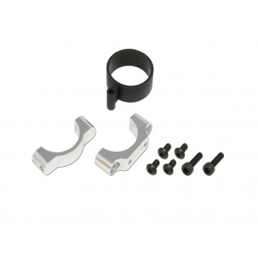 DISC.. CNC Tail Support Clamp(Silver anodized)