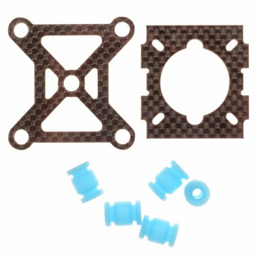 DISC.. 250 carbon Parts - 2mounting plate and shock absorption balls
