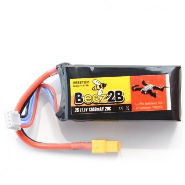 Batterie Lipo 3S 11.1v 1300mAh 20C pour eTurbine TB250  & FPV racer