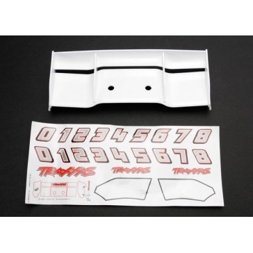 Traxxas 5412 White Revo Wing with Decal