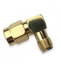 DISC.. Antenna 90° Adaptor RP-SMA male - RP-SMA Femelle