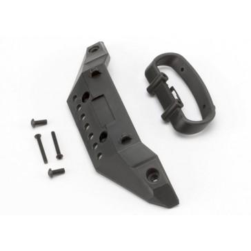 Bumper, front/ bumper mount, front/ 4x10mm BCS (2)/ 3x25mm B