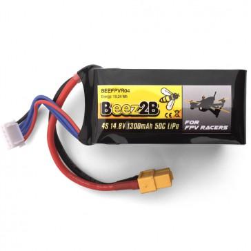 DISC.. Batterie Lipo 4S 14.8v 1300mAh 50C pour FPV racer