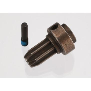 Drive hub, front, hardened steel (1)/ screw pin (1) (fits Sl