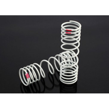 Springs, rear (progressive, +10% rate, pink) (2)