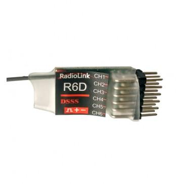 DISC.. R6D 2.4Ghz 6-Ch (10-channel under PPM mode) s.Bus Receiver
