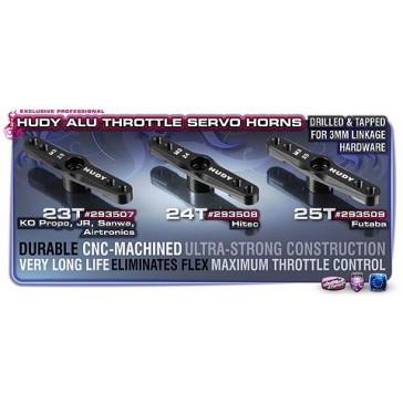 ALU THROTTLE SERVO HORN 1/8 OFF-ROAD HITEC - 24T (M3 THREAD)