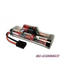 Stickpack 3000mAh, 7 cell, 8.4V, Hump, NiMH, Traxxas plug
