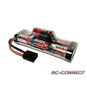 Stickpack 3000mAh, 7 cell, 8.4V, Hump, NiMH, Traxxas plug