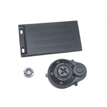 Battery door + motor gear cover