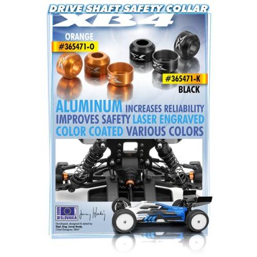 Black 3 XRA365471-K XRAY Aluminum Drive Shaft Safety Collar