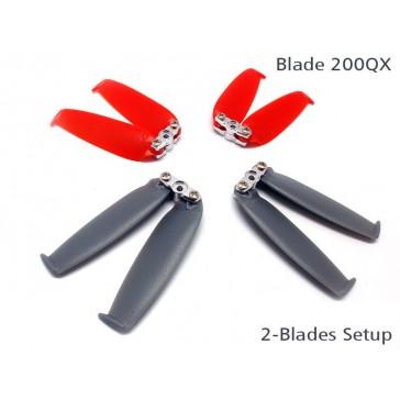 DISC.. 200QX Double-Blades Prop set ( 4 Blade Grips, 12 Blades)