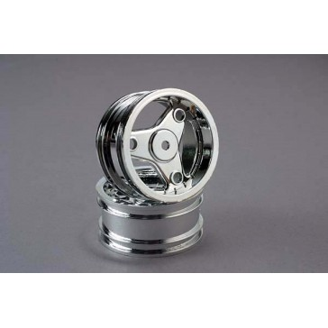Wheels, chrome, three-spoke (2)