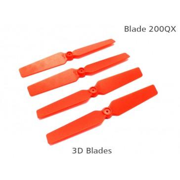 DISC.. 200QX 3D Fixed Props - Red (4 pcs, 2R+2L)