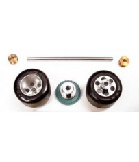 DISC.. Hinterachsset mit geschliffenen Reifen für Formel Fahrzeuge