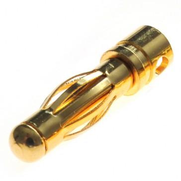 Connecteur : prise 4.0mm Mâle plaqué or (1pc)