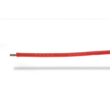 22AWG (0,32mm²) silicone wire, red - 1m