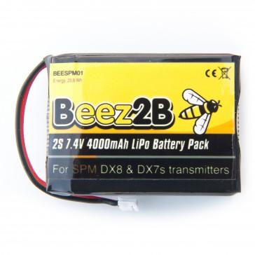 2s 7.4V 4000mAh lipo battery for Spektrum DX8 & DX7s radio