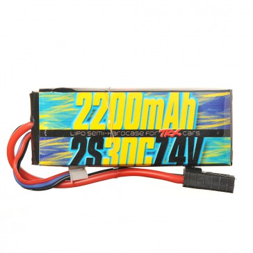 2s 7.4v 2200mAh 30C Lipo Battery for all Traxxas 1/16 Cars
