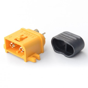 Connector : XT60-L with cap Male plug (1pcs)