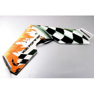 DISC.. Mini Popwing Black 600mm ARF wing plane kit (w/esc, motor & 2