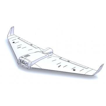 DISC.. Explorer Xbee FPV wing Advanced Kit (w/ servos, esc, motor & p