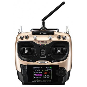 AT9S 9-channel radio (Mode 1) + récepteur R9DS