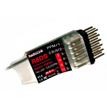 R6DS 2.4Ghz 6-Ch (10-channel under PPM) S.Bus Receiver (DSSS + FHSS)