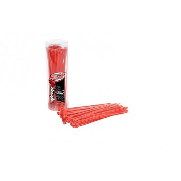 DISC.. Cable Tie Raps - Red - 2.5x100mm - 50 Pcs
