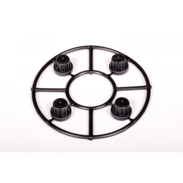 DISC.. Hub Cover Set Black (4)