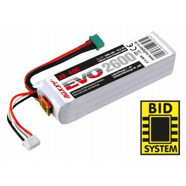 Accu LiPo ROXXY EVO LiPo 3-2600M 40C av.BID-Chip