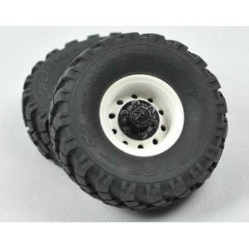 1.9' complete tyres white hub,2unit/kit